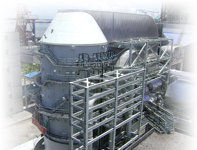 a plant with heavy air pollution control equipment including baghouses and fdd