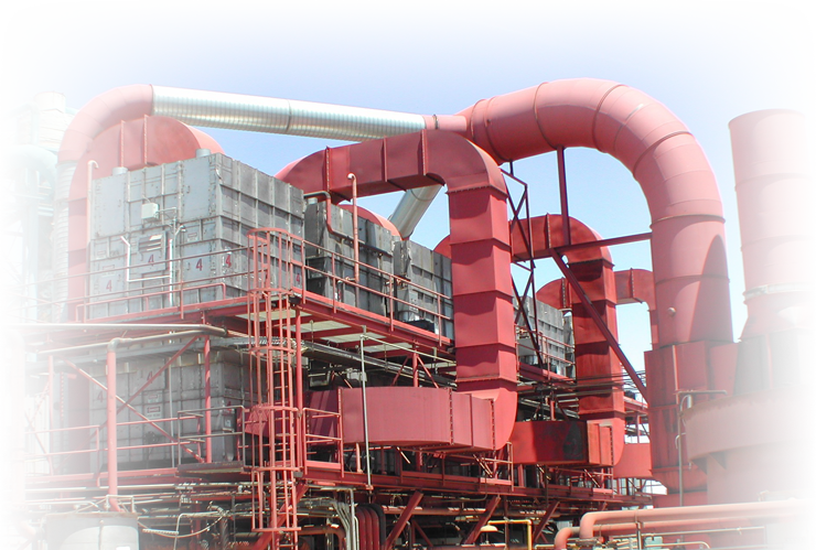 a large industrial plant